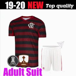 Wholesale 19 flamengo jersey Flemish DIEGO Soccer Jerseys Flamengo home red black sports Brazil football shirt AWAY Tank Top POLO Adult Kit