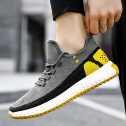 men canvas sports footwear NZ - Male Casual Sport Shoes Breathable Rugged Mesh Sneakers Teenager Slip-on Outdoor Footwear Men Fashion Summer Knit Shoes