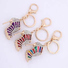 metal keyholders NZ - Wholesale Retail Fashion Newest Hotselling Dropshipping Wholesale Dropshipping 3D Keychains High Heel Shoe Women Keyholders