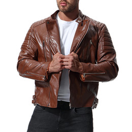 Jackets Motorcycles Nylon Australia - 2019 New Jacket Men Hot Sale High Quality Motorcycle Leather Jacket Autumn Winter Coat Casual Solid Male Jackets