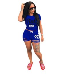 $enCountryForm.capitalKeyWord UK - PINK Letter Print Two Pieces Suits Top and Pants Women Tracksuit Fashion Sports Suit Women Sweatsuits Clothing on sale Good quality