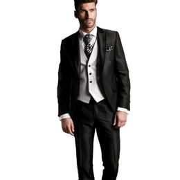 $enCountryForm.capitalKeyWord UK - Handsome Groomsmen Peak Lapel Groom Tuxedos Mens Wedding Dress Man Jacket Blazer Prom Dinner 3 Piece Suit(Jacket+Pants+Tie+Vest) B10