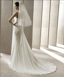 $enCountryForm.capitalKeyWord NZ - New Designer Luxury Soft Tulle In Stock Amazing Real Picture Two Layer Pencil Edge Wedding Veils White Ivory Wrist Length Alloy Comb
