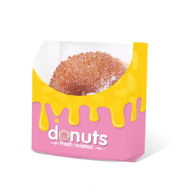 iso pack NZ - Donut Take Out Bag Biscuits Doughnut Puff Disposable Paper Bags Food Grade Snack Bakery Food Packing Bag QW9583