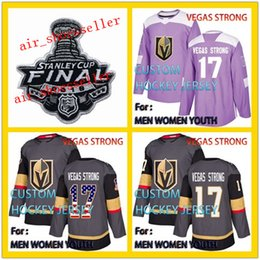 f375c945eb4 Golden Knights  17 Vegas Strong 2018 Hockey Fights Cancer Jerseys 2017 Veterans  Day Men Women Youth Custom Stitched hockey Jersey