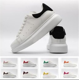 Leather Canvas Shoes Australia - Fashion Sneaker Wedges Flats Platform Dress Loafers Canvas Trainers Designer Luxury White Black Women Men Girls Leather Casual Shoes