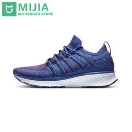 Original Xiaomi Mijia Shoes Sneaker 2 Sports Running transpirable Nuevo sistema de bloqueo de espina de pez Elástico Vamp para hombres al aire libre