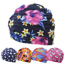 Discount swim hats for long hair - New Womans Swimming Cap Long Hair Swimming Accessories Hats Mens Mask for Sun Water Sport Swim Cap Beach Summer