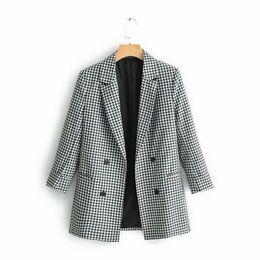 $enCountryForm.capitalKeyWord Canada - Women fashion XQ9-60-9031 European and American fashionable black and white checked suit jacket