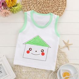 $enCountryForm.capitalKeyWord Australia - 100% Cotton Summer Baby Girls Boys Vest Tops Soft Sleeveless Kids T-shirts Undershirt Camisoles Children Underwear