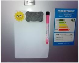 Vente en gros Aimant Effacer Planches Sèches Stickers Blanc Boad A5 Taille Dessin Feuilles Message Rappel Conseil pour Réfrigérateur Cuisine