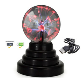 $enCountryForm.capitalKeyWord Australia - 3 inches Novelty Lighting Magic Plasma Ball Lamp 2019 LED Plasma Blitzball Night Light Table Lamp Amazing Light Show Fun For Kids Gift C1