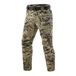 tactical military camping men pants Australia - Men Army Green Military Sports Pants Outdoor Camping Tactical Military Camouflage Long Trousers Thin and firm patchwork pockets
