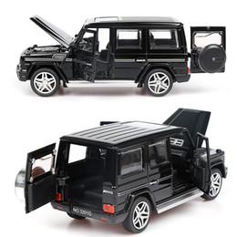China 1:32 Alloy Pull Back Model Car Model Toy Sound Light Pull Back Toy Car For G65 SUV AMG Toys For Boys Children Gift cheap toy suv cars suppliers