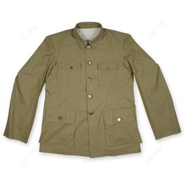 $enCountryForm.capitalKeyWord Australia - World War Two MEN UNIFORM TYPE CHINESE SUIT Officers Of The Anti - Japanese Grass Green Jacket Copy Film Export Pure Cotton