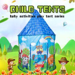 $enCountryForm.capitalKeyWord Australia - Portable Kids Play Tent Toy Cartoon Animal Small Play House Folding Baby Children Tent Indoor Outdoor Toys Tents