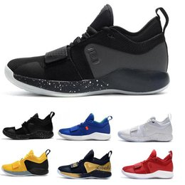 Discount new paul george shoes - 2019 New PG 2.5 University Red Opti Yellow Mens Basketball Shoes Racer blue White Black Wolf Grey Mens Paul George sport