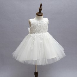 $enCountryForm.capitalKeyWord Australia - Baby Kids Party Gown Design Pageant Wedding Dresses Infant Princess Little Girls 1 Year Birthday Dress Newborn Christening Gowns Y19061101