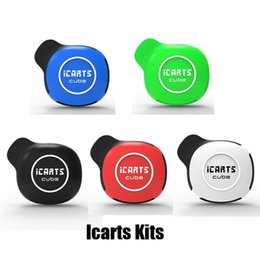 Black cuBe Box online shopping - Authentic Icarts Cube Starter Kit mAh Battery Voltage Adjustable Vape Box Mod for Thread Thick Oil Carts Cartridge Original