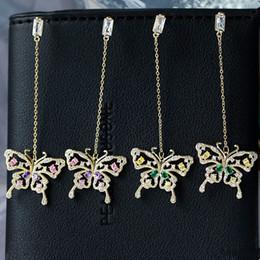 $enCountryForm.capitalKeyWord Australia - Insect Butterfly Earrings For Women 2019 New Trendy Crystal Long Dangle Chandelier Summer Fashion Brand Jewelry Designer Earings