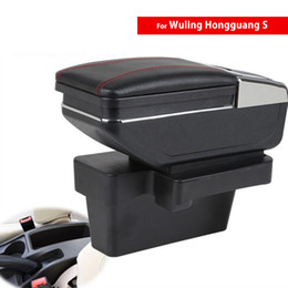 wuling cars Canada - For Wuling Motors Hongguang S 2014~2016 Car Center Console Storage Box Armrest Arm Rest Rotatable Central Auto Armrests with USB