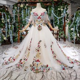 Backless Prom Dress Patterns Australia - 2019 Latest Bohemian Evening Dresses Tassel Sweetheart Neck Short Sleeve Backless Lace Up Back Hand Made 3D Applique Pattern Prom Gowns