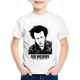 Boys Rock Tees Australia - Fashion Print Sid Vicious Dead Headline Children T-shirts Kids Rock Roll Summer Tees Boys Girls Casual Tops Baby Clothing,HKP754