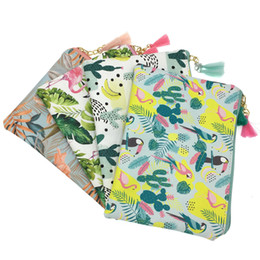 $enCountryForm.capitalKeyWord Australia - Cute Flamingo Cactus Makeup Bag Women PU Leather Cosmetic Bag Zipper Make Up Pouch Travel Toiletry Organizer Beauty Vanity Case
