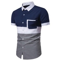 business tee shirts Australia - 2019 New Arrival Summer Men Shirt Short Sleeved Fashion Solid Male Shirts Formal Business Casual Dress Shirt Tops Tee