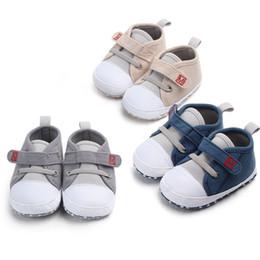 4b2a55a5 Sapatos de bebê 2019 Moda Infantil Sapatos Bebés Meninos Sapatos Primeiros  Caminhantes Canvas Sneaker Em Estoque Transporte Rápido Confortável
