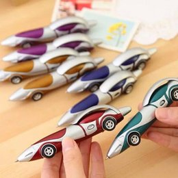 wholesale children pens UK - Funny Novelty Racing Car Design Ball Pens Portable Creative Ballpoint Pen Quality for Child Kids Toy Office School Supplies ZZA1885