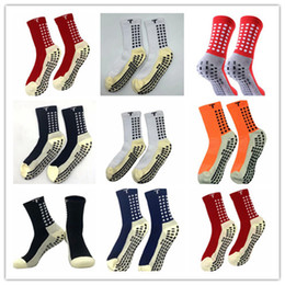 Wholesale mix order 2019 20 sales football socks non-slip football Trusox socks men's soccer socks quality cotton Calcetines with Trusox