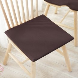 $enCountryForm.capitalKeyWord NZ - 40x40x2cm Square Solid Color Soft Comfortable Hard Cotton Padding Core Seat Pillow Office Home Hotel Chair Seat Cushion