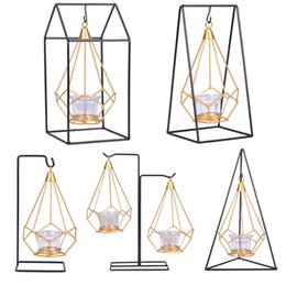 $enCountryForm.capitalKeyWord Australia - Nordic style Candle holder Home Decoration Ornaments Candlelight dinner props Art of iron High quality Arts and Crafts.