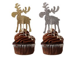 $enCountryForm.capitalKeyWord Australia - glitter christmas Moose Hunters Party Cupcake Toppers Engagement Bachelorette wedding birthday toothpicks decorations Party Supplies Event