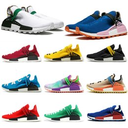 human race tennis shoes NZ - 2020 Inspiration Solar Pack Human Race trail tennis shoes Men Women Pharrell Williams HU Heart Mind Equality Nerd sports runner sneakers hot