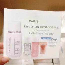 4PCS SET SOINS DE LA PEAU PARIS EMULSION ECOLOGIQUE SELECTION SET DE VOYAGE VOYAGE en Solde