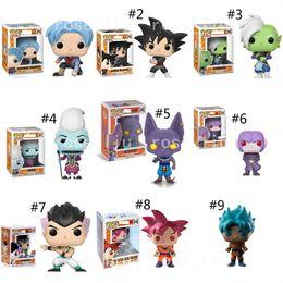 Anime drAgon bAlls online shopping - 23 Style Funko POP Dragon Ball Z toys New Anime Super Saiya Son Goku Vegeta IV Frieza Beerus PVC dolls Gifts toys B