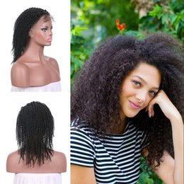 Kinky Curly Human Hair Afro Wigs Australia - Pre Plucked 130% Density Afro Kinky Curly Lace Front Wigs With Baby Hair Natural Black 100% Natural Human Hair LaurieJ Hair