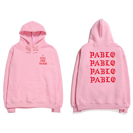 антисоциальная клубная толстовка  оптовых-Hip Hop Hoodies Men I Feel Like Pablo Kanye West Streetwear Hoodie Sweatshirts Letter Print Hoodie Club
