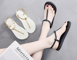 korean flat slippers Australia - Thong sandals female summer new non-slip pinch flat bottom beach shoes casual students Korean version with flat sandals and slippers women