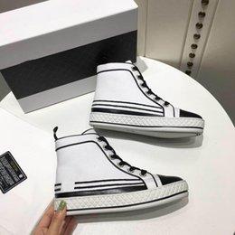 $enCountryForm.capitalKeyWord Australia - 2019 New Fabric & Lambskin Booties Ref. G34222 Y52842 C0202 Heel Height 0.4 In Navy Blue & Black Sneakers Women Boots Canvas Shoes 12