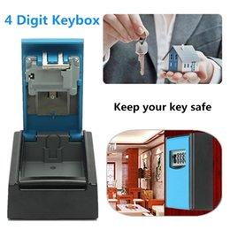 Modern Key Australia - Key Storage Box Wall Hanging Keybox Alumium Alloy Blue 4-digit Combination Code Lock Storing Keys Securely Rust Free