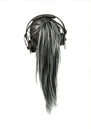 Vente en gros DIVA Fashion Remy Natural Clip humain En queue de cheval Extension de Cheveux 10-22 Pouce Pony queue postiche Wrap naturel noir 1b 100g-120g