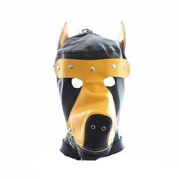 $enCountryForm.capitalKeyWord NZ - Kinky Play dog head sex hood face mask for slave cosplay group sex party adult sex toys faux leather