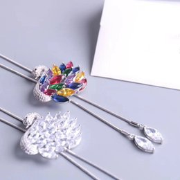 e5babe959 Crystals form Swarovski Korean edition white swan high-grade Brooch Sweater  chain long section necklace clothing ornament selection for lady