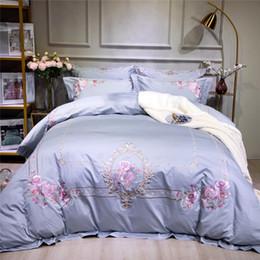 Luxury Egyptian Cotton Australia - Egyptian Cotton Bedding set Embroidery Luxury OrientaKing Queen size Bed set Duvet cover Bed sheet set pillowcase