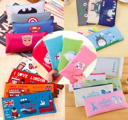 "$enCountryForm.capitalKeyWord Australia - 50 PCS Cute Oxford Zipper school supplies Pencil Pen Pouch Bags 7.5"" for Kids Multi Styles"