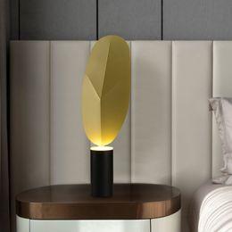 $enCountryForm.capitalKeyWord Australia - Postmodern designer leaf decoration table lamp simple bedroom bedside lamp study reading light