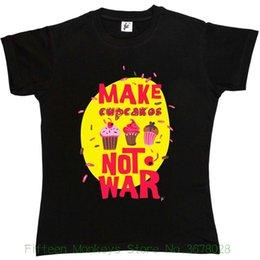 $enCountryForm.capitalKeyWord Australia - Women's Tee Make Cupcakes Not War Peace Love Tranquillity Womens Ladies T-shirt Womens Tops Fashion 2015 ,